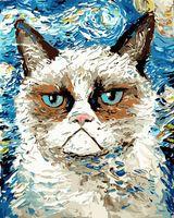 """Картина по номерам """"Кот Ван Гога"""" (400х500 мм)"""