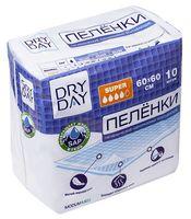"""Пеленки одноразовые детские """"DryDay. Super"""" (10 шт.; 600х600 мм)"""