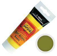 """Краска акриловая матовая """"Solo Goya Basic"""" 21 (100 мл; зеленая земля)"""