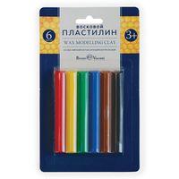"""Пластилин восковой """"MultiColor"""" (6 цветов; арт. 34-0003)"""