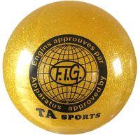 Мяч для художественной гимнастики RGB-102 (19 см; жёлтый с блёстками)