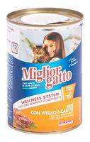 """Консервы для кошек """"Gatto"""" (400 г; телятина и морковь)"""