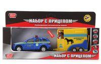 """Модель машины """"Ветеринарная служба"""" (с фигуркой лошадки)"""