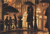 """Канва с нанесенным рисунком """"Ночное кафе"""""""