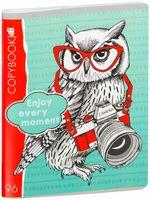 """Тетрадь общая в клетку """"Cool Owl?"""" (96 листов; в ассортименте)"""