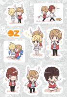 """Набор наклеек """"Shinee"""" (А6)"""