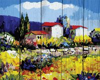 "Картина по номерам ""Деревенька в Провансе"" (400х500 мм)"