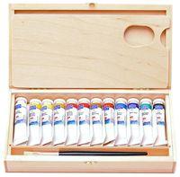 """Краска масляная """"Мастер-класс"""" (12 цветов; деревянная коробка)"""