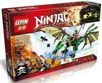 """Конструктор Ninjag """"Зелёный Дракон"""""""