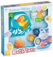 """Набор игрушек для купания на присоске """"Водный баскетбол с попугаем"""" (арт. Н51153)"""