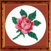 """Вышивка крестом """"Роза"""" (120x120 мм)"""