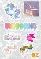 """Набор наклеек """"Unicorns"""" (А6)"""