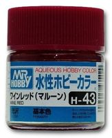 Краска Aqueous Hobby Color водоразбавляемая (wine red, H-43)