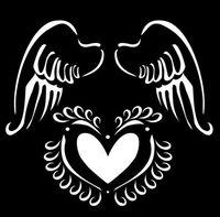 """Трафарет пластиковый """"Крылья ангела"""" (арт. PLD-30598)"""