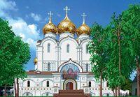 """Вышивка бисером """"Успенский собор в Ярославле"""""""