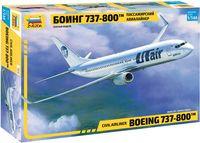 "Сборная модель ""Пассажирский авиалайнер Боинг 737-800"" (масштаб: 1/144)"