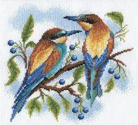 """Вышивка крестом """"Яркие птички"""""""