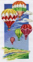 """Вышивка крестом """"Воздушные шары"""" (165х300 мм)"""