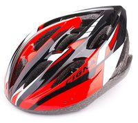 """Шлем велосипедный """"WT-040"""" (чёрный/красный/белый)"""