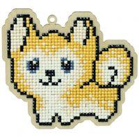 "Алмазная вышивка-мозаика ""Брелок. Собака Джек"" (108х98 мм)"
