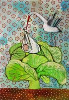 "Магнит на холодильник ""Аист прилетел"" (арт. 11.11)"