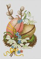 """Вышивка крестом """"Пасхальные яйца"""" (150х230 мм)"""