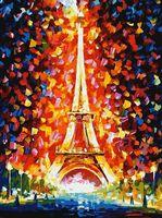 """Картина по номерам """"Париж - огни Эйфелевой башни"""" (400х300 мм)"""