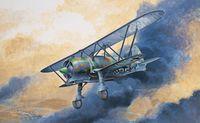 """Истребитель """"C.R. 42 Luftwaffe"""" (масштаб: 1/72)"""