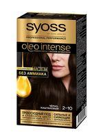"""Краска для волос """"Oleo intense"""" тон: 2-10, черно-каштановый"""