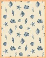 "Простыня хлопковая ""Shells"" (145х220 см)"