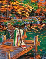 "Картина по номерам ""Золотой пруд"" (280х360 мм; арт. 91468-73-DMS)"