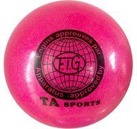 Мяч для художественной гимнастики RGB-102 (19 см; розовый с блёстками)