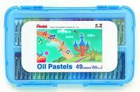 """Пастель масляная в голубом боксе """"Oil Pastels"""" (49 цветов)"""