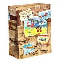 """Пакет бумажный подарочный """"Самолеты"""" (18х23х8 см; арт. 10733108)"""