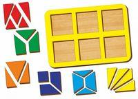 """Рамка-вкладыш """"Сложи квадрат"""" (6 квадратов)"""