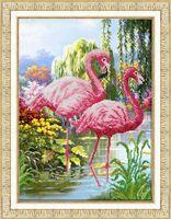 "Вышивка бисером ""Фламинго"""