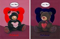 "Записная книжка ""Bears Choco & Milk"" (А6; с тиснением)"