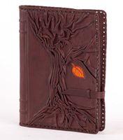 Обложка с недатированным ежедневником большим (коричневая, 008-07-11-16)
