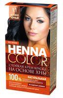 """Крем-краска для волос """"Henna Color"""" (тон: 1.1, иссиня-черный)"""