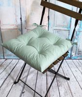 "Подушка на стул ""Velours"" (42х42 см; мятная)"