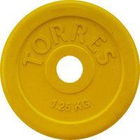 Диск обрезиненный 1,25 кг (жёлтый; арт. PL50381)