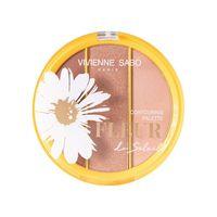 """Палетка хайлайтеров для лица """"Fleur Du Soleil"""" тон: 01"""