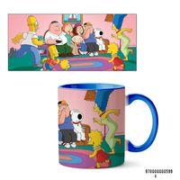 """Кружка """"Симпсоны и Гриффины"""" (арт. 599, голубая)"""