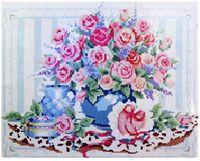 """Алмазная вышивка-мозаика """"Розовые розы"""""""