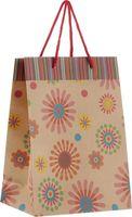 "Пакет бумажный подарочный ""Фейерверк цветов"" (19х24,5х8 см; арт. 43739)"
