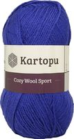 "Пряжа ""KARTOPU. Cozy Wool Sport №K1624"" (100 г; 280 м; василек)"