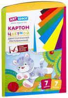 Картон цветной двусторонний (А4; 7 цветов; 7 листов)
