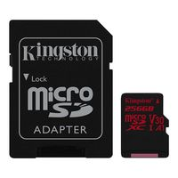 Карта памяти Kingston Canvas React SDCR/256GB microSDXC 256GB (с адаптером)