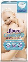 """Подгузники для детей Libero Comfort """"Extra Large XL 6"""" (12-22 кг.; 66 шт)"""