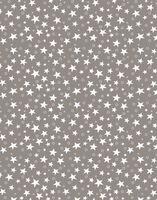 "Простыня хлопковая ""Stars Grey"" (145х220 см)"